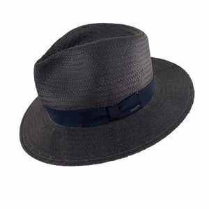 Bailey of Hollywood Spencer Straw Fedora Navy L